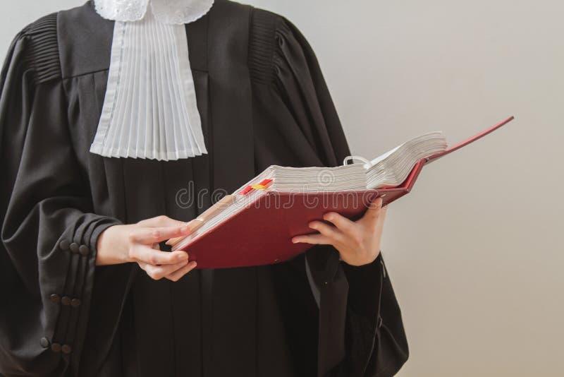 Lettura dell'avvocato fotografia stock libera da diritti