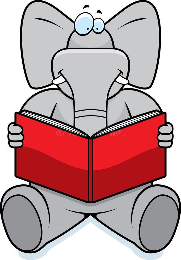 Lettura dell'elefante illustrazione vettoriale