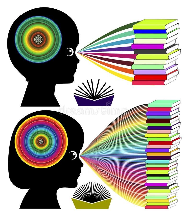 Lettura ed intelligenza illustrazione vettoriale