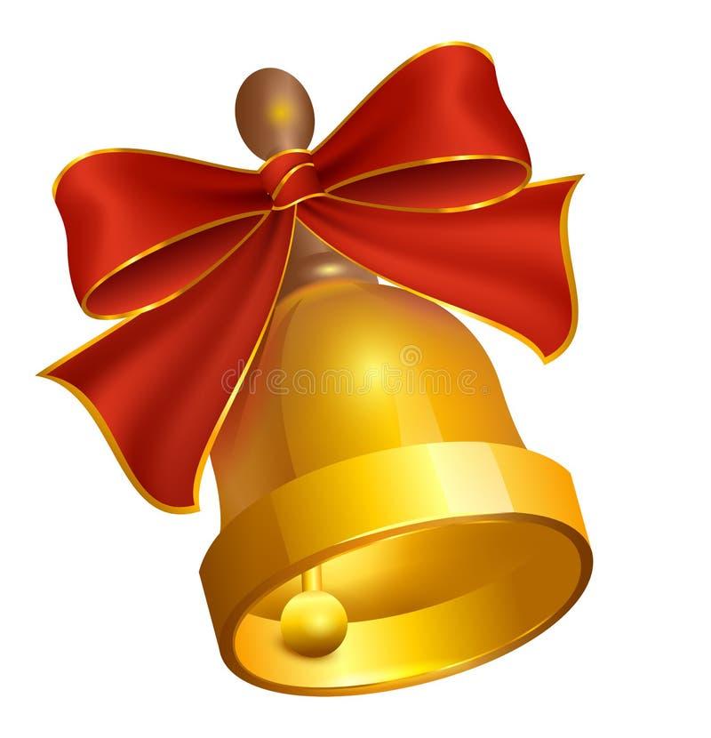Letzte goldene Bell und roter Bogen lizenzfreie abbildung