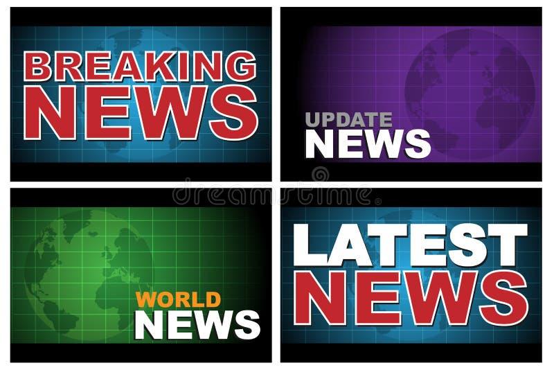 Letzte Nachrichten lizenzfreie abbildung