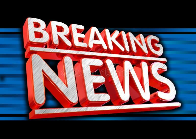 letzte Nachrichten Live auf Geschäftstechnologie-Nachrichtenhintergrund lizenzfreie abbildung
