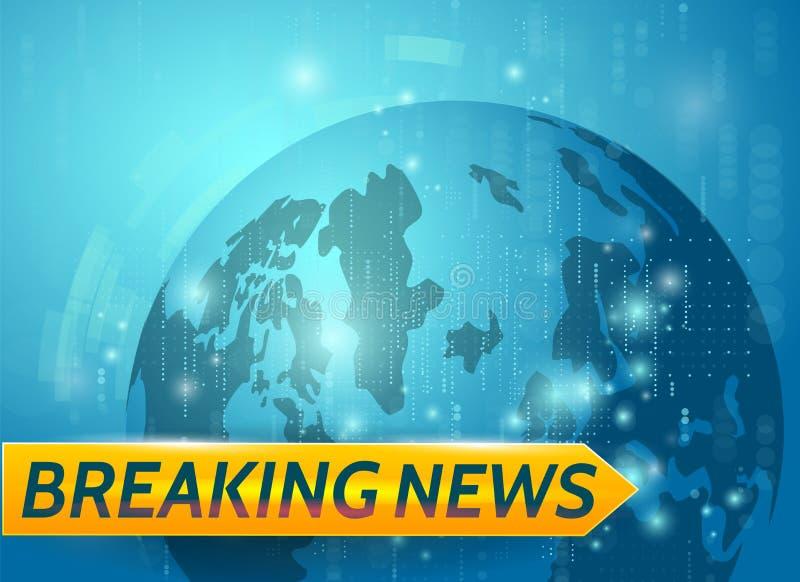 Letzte Nachrichten Weltnachrichten mit Planet backgorund Modernes Konzept der letzten Nachrichten Fernsehnachrichten lizenzfreie abbildung