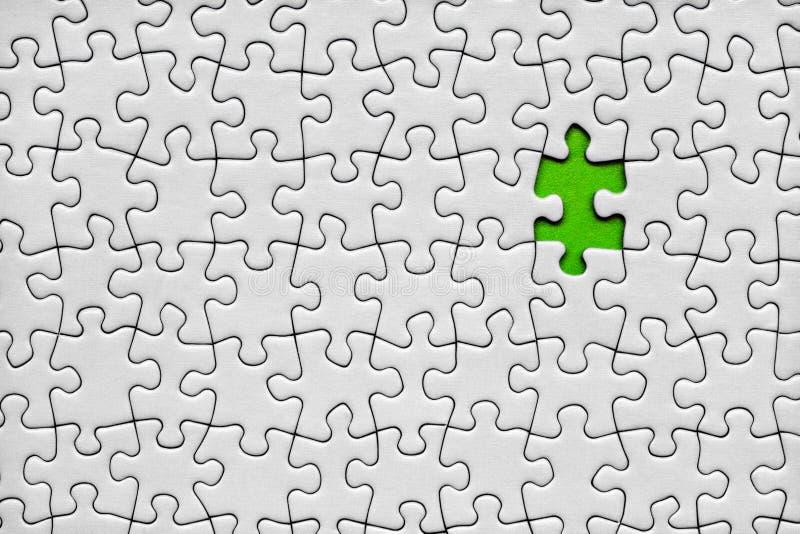 Letztes Puzzleteil stockbild