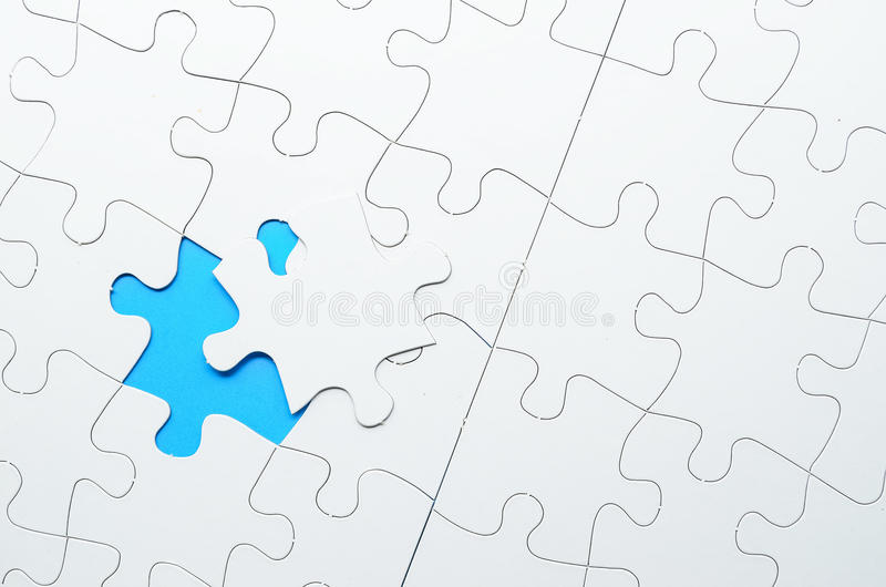 Letztes Stück des Puzzlen lizenzfreies stockfoto