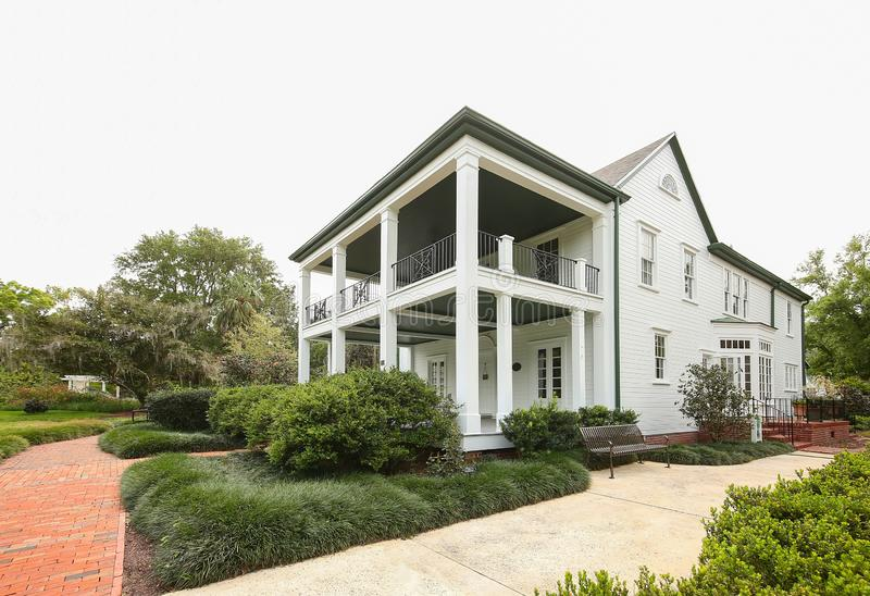 Leu House Museum. Located in Harry P. Leu Gardens in downtown Orlando, is a restored 19th century home listed on the National Register of Historic Places. Leu royalty free stock photography