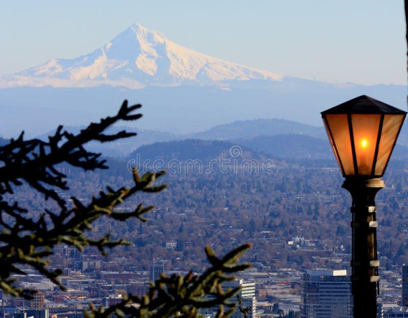 Leuchte über Portland lizenzfreie stockfotos