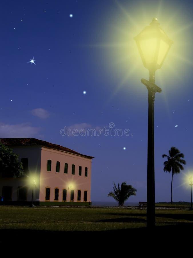 Leuchte in der Nacht stockbild