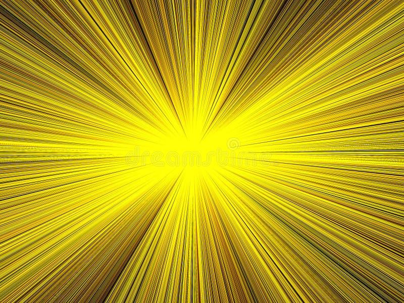 Leuchte u. Strahl-Hintergrund stock abbildung