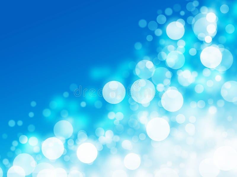 Leuchte verwischt blauen abstrakten Hintergrund vektor abbildung