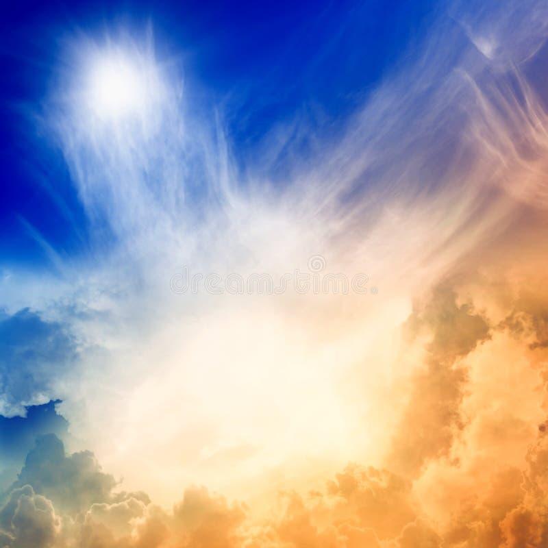 Leuchte vom Himmel stockfoto