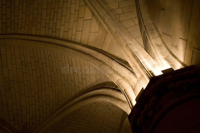 Leuchte von der Spalte lizenzfreie stockfotos