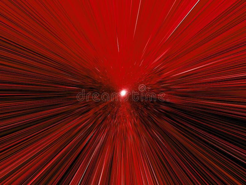 Leuchten in der Bewegung stock abbildung