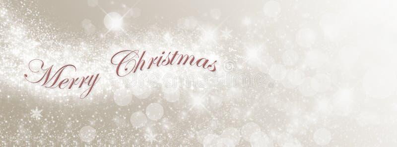 Leuchten der frohen Weihnachten stock abbildung