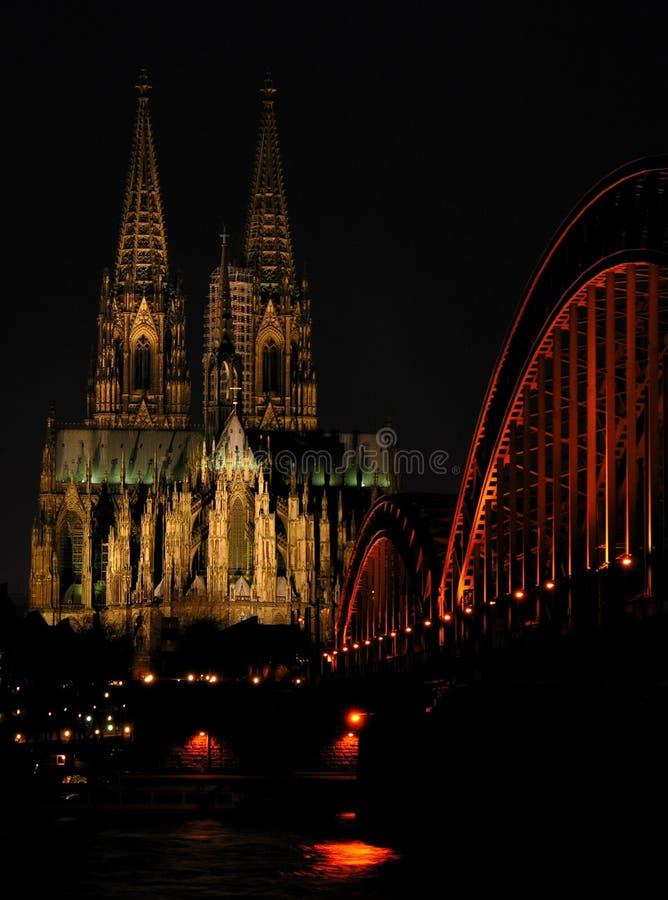 Leuchten von Cologne lizenzfreies stockbild