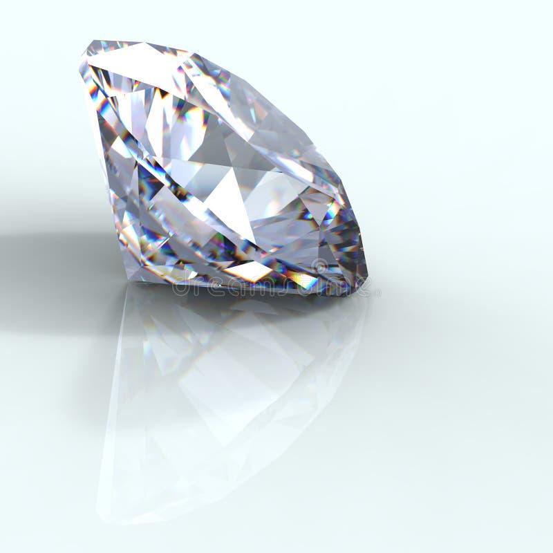 leuchtende Diamantperspektive des Schnittes 3d stockfotos