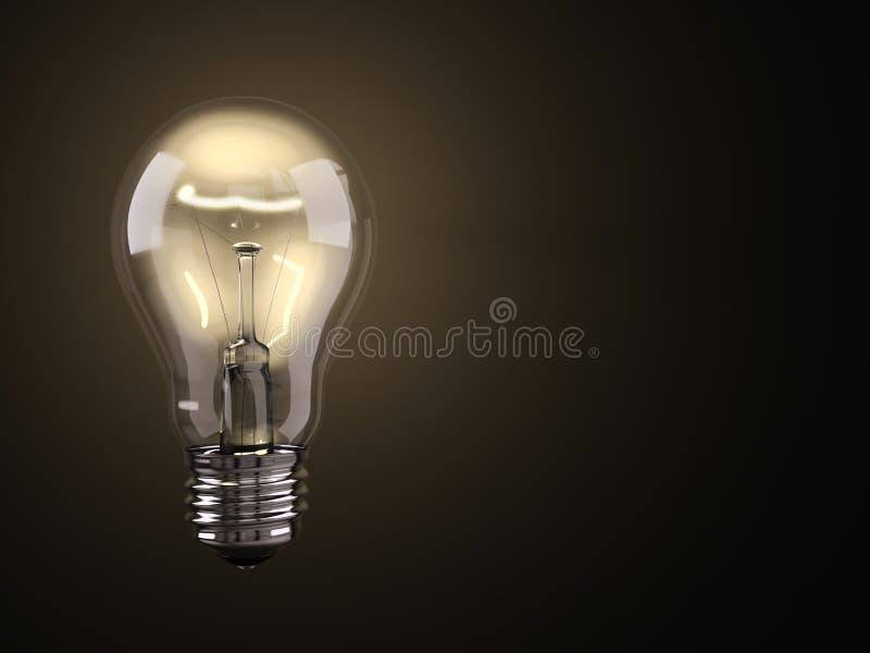 Leuchtende Glühlampe vektor abbildung