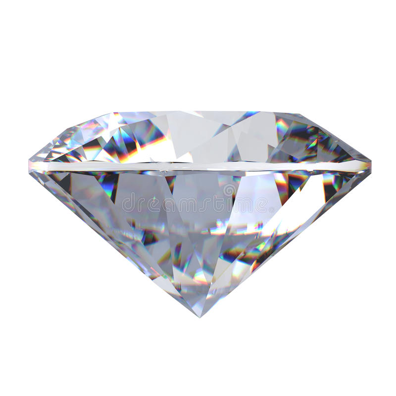 leuchtender Diamant des Schnittes 3d lizenzfreies stockbild