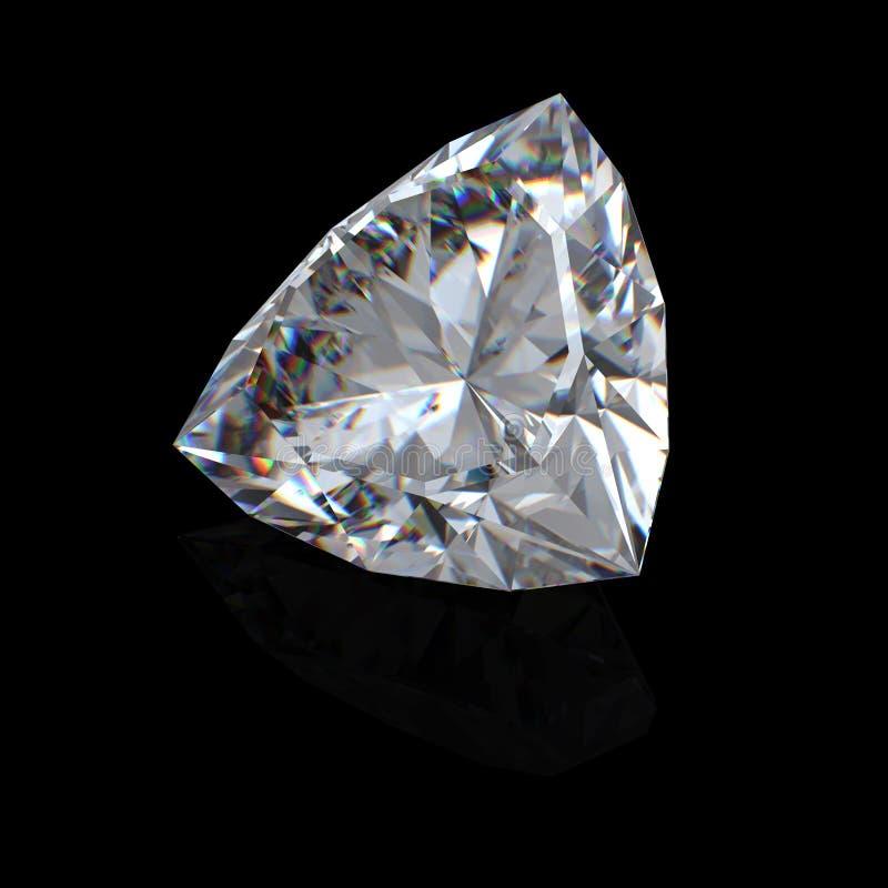 leuchtender Diamant des Schnittes 3d lizenzfreie stockfotografie