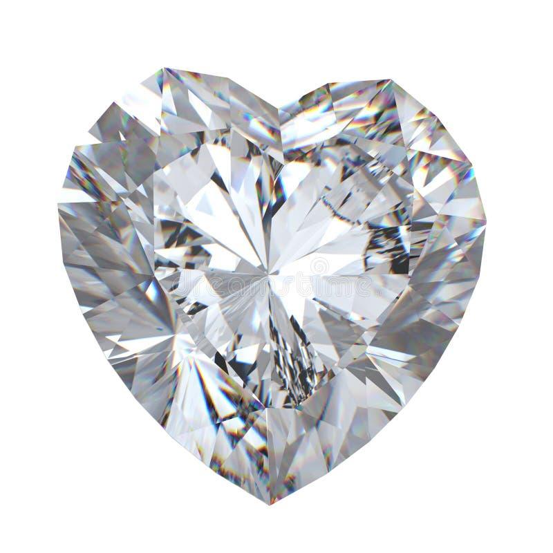 leuchtender Diamant des Schnittes 3d stockfoto