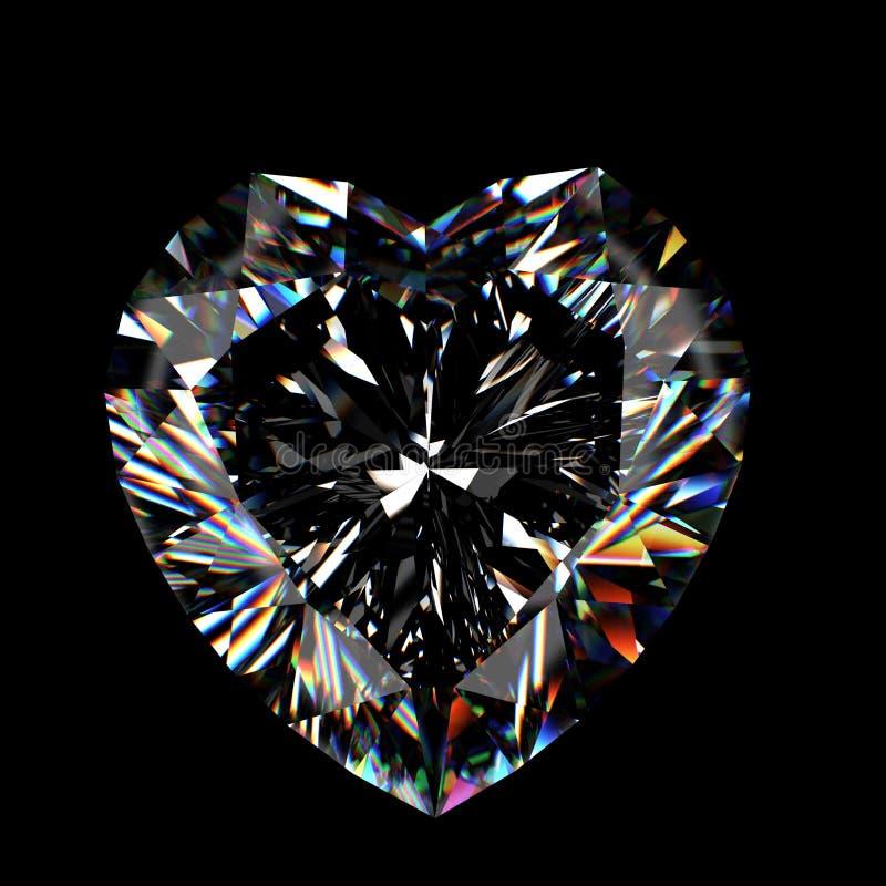 leuchtender Diamant des Schnittes 3d stockfotos