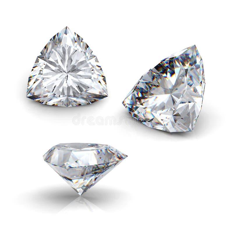leuchtender Diamant des Schnittes 3d stock abbildung