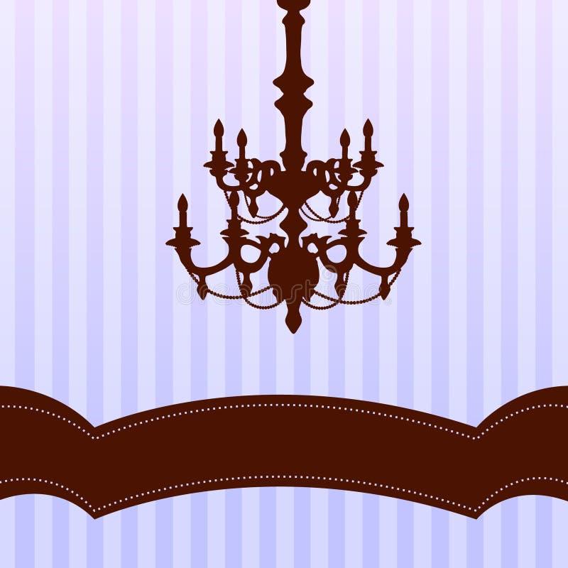 Leuchter auf blauem Hintergrund lizenzfreie abbildung