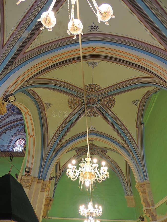 Leuchter auf der Decke der Höhle der Patriarchen, Jerusalem stockbild