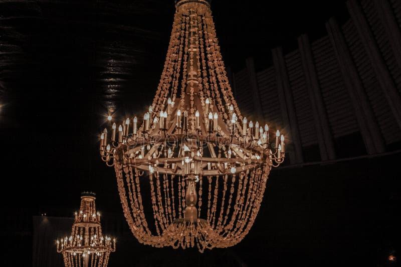 Leuchter im Wieliczka-Salzbergwerk in der Stadt von Wieliczka, Süd-Polen lizenzfreies stockbild