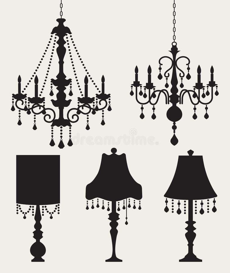 Leuchter und Lampen lizenzfreie abbildung