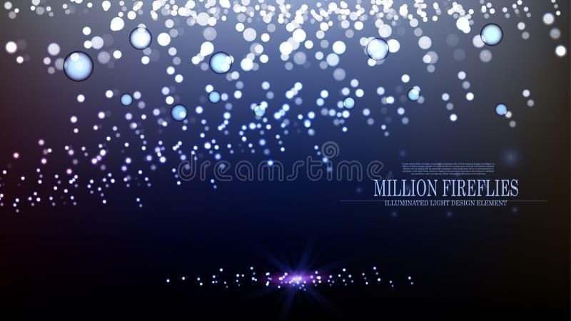 Leuchtkäfer-Hintergrunddesign II der Vektorzusammenfassung Million lizenzfreie abbildung