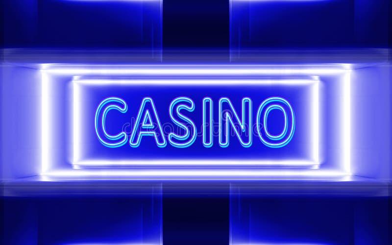 Leuchtreklame des Kasinos stock abbildung
