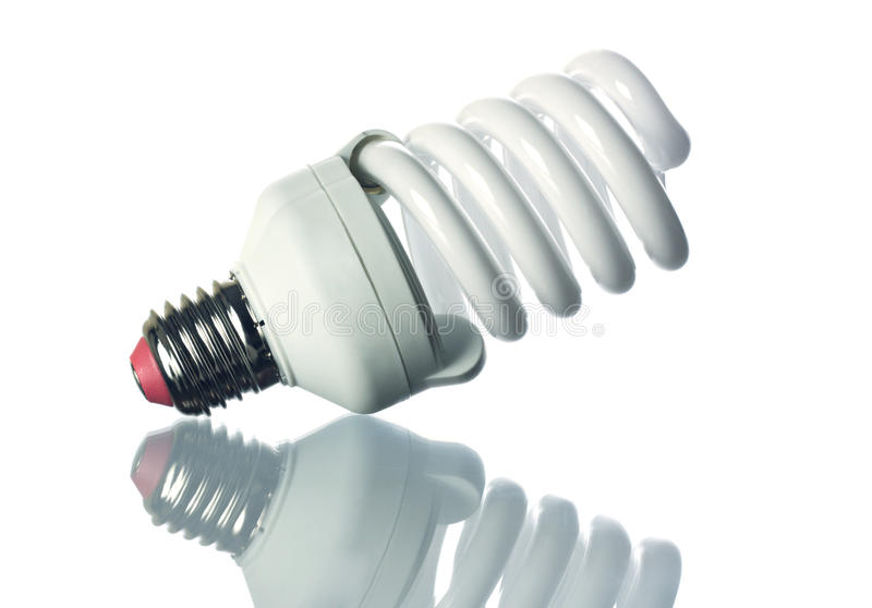 Leuchtstoff Glühlampe lizenzfreies stockfoto