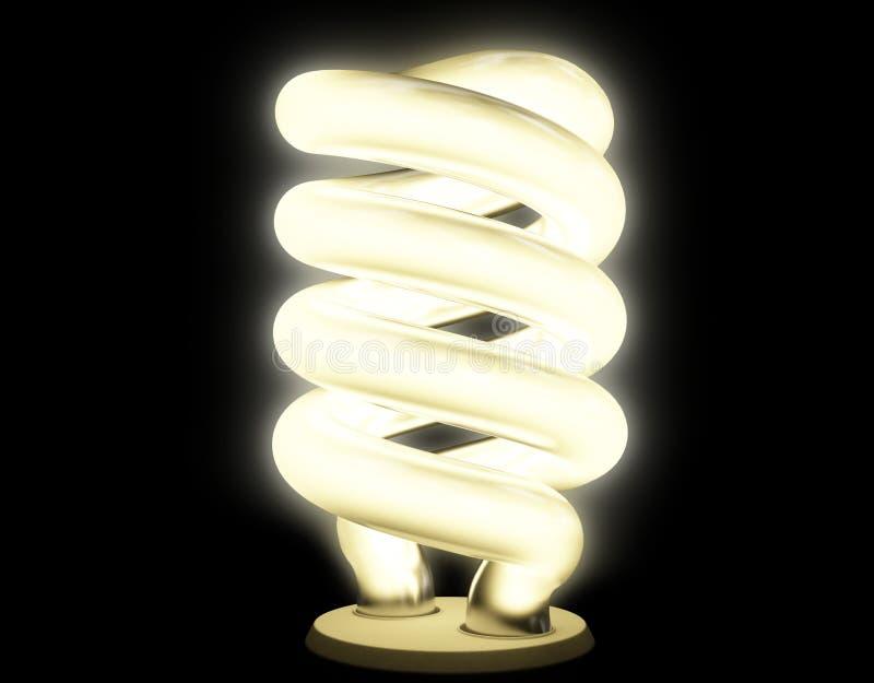 Leuchtstofflampe mit weicher Lumineszenz stock abbildung