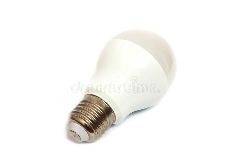 Leuchtstoffröhre auf weißem Hintergrund stockbild