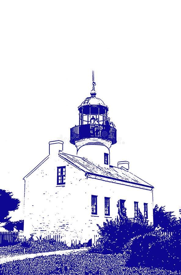 Leuchtturm-Abbildung Stockfotografie