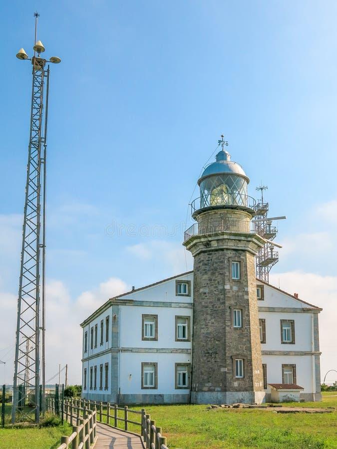 Leuchtturm Asturien, Nord-Spanien Cabo Penas lizenzfreies stockbild