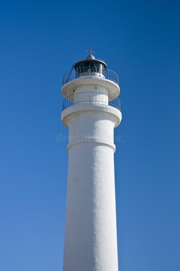 Leuchtturm auf blauem Himmel lizenzfreie stockbilder