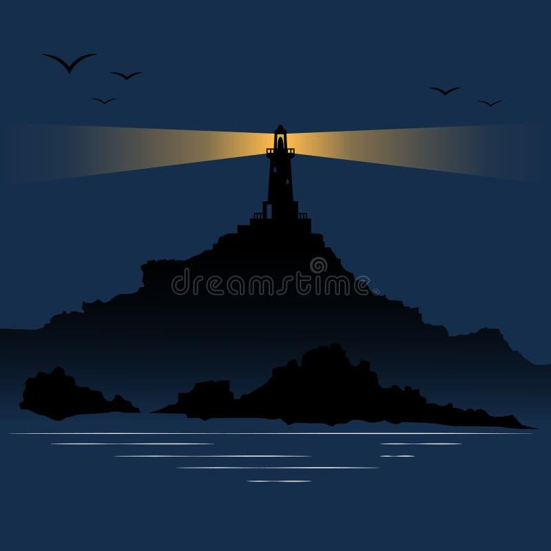 Leuchtturm auf dem Strand stockfoto