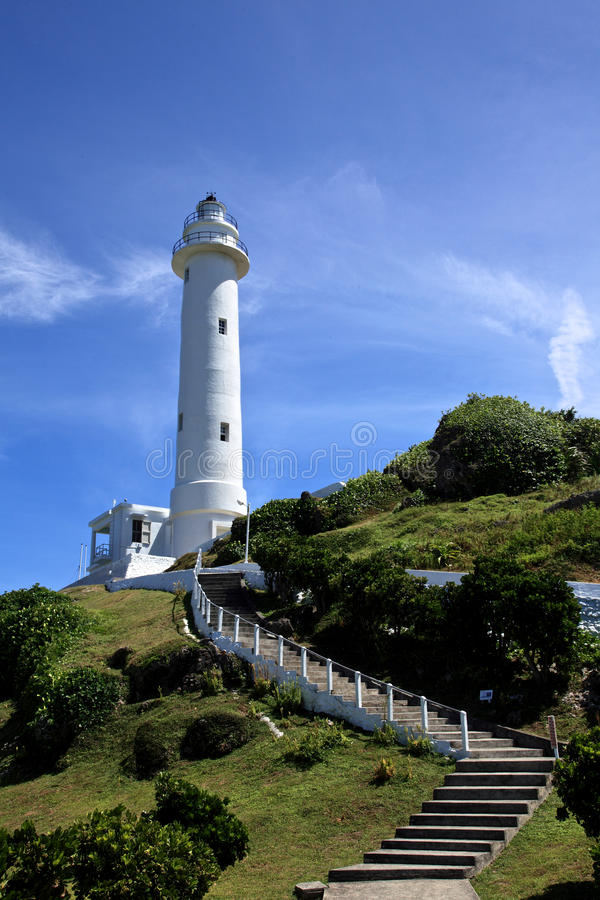Leuchtturm auf der grünen Insel, Taiwan lizenzfreies stockfoto