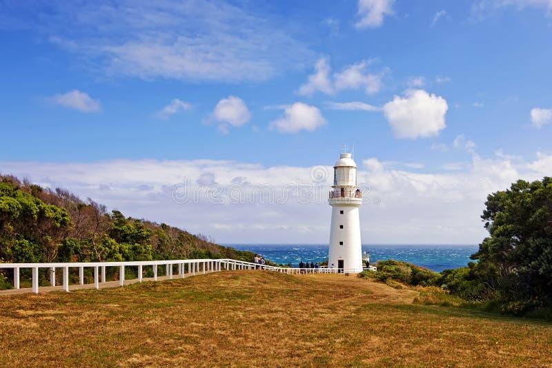 Leuchtturm auf der großen Ozean-Straße lizenzfreie stockfotos