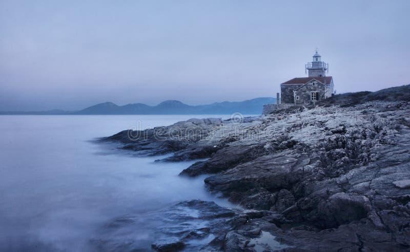 Leuchtturm auf der Insel von Hvar in Sucuraj stockfoto