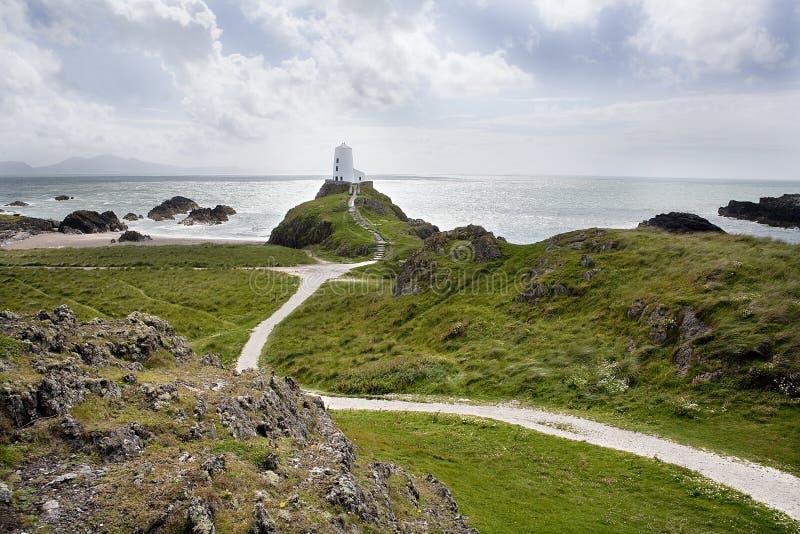 Leuchtturm auf Hügel stockfotos