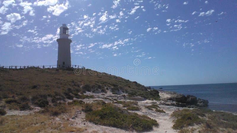 Leuchtturm auf Rottnest-Insel stockbild
