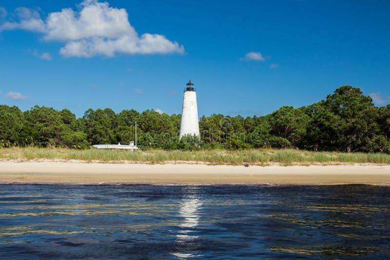 Leuchtturm auf Shell Island lizenzfreie stockfotos