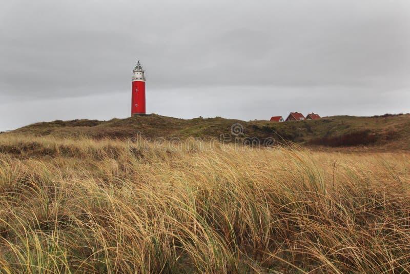 Leuchtturm auf Texel-Insel, die Niederlande lizenzfreie stockbilder