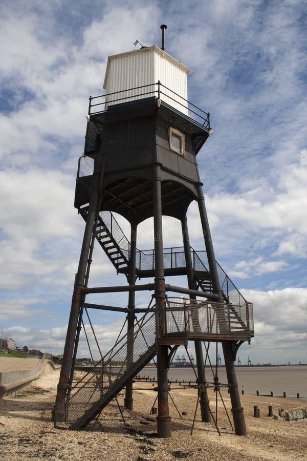 Leuchtturm bei Dovercourt, Essex, England stockfotografie