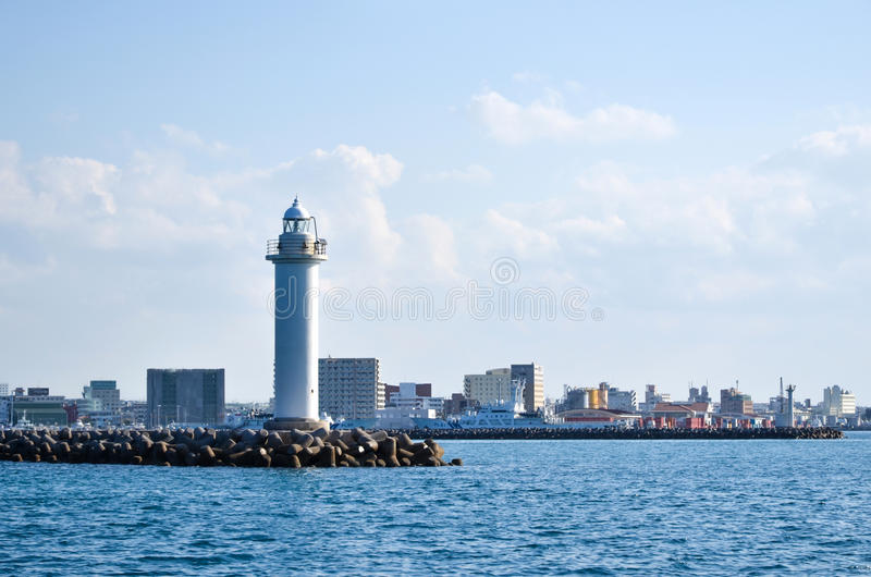 Leuchtturm bei Ishigaki, Japan lizenzfreies stockbild