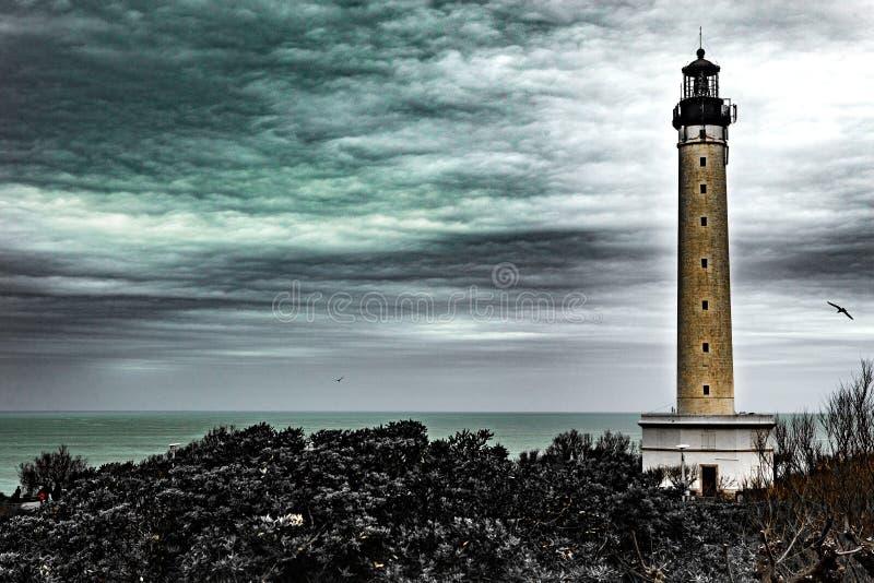 Leuchtturm - Biarritz - Frankreich lizenzfreies stockfoto