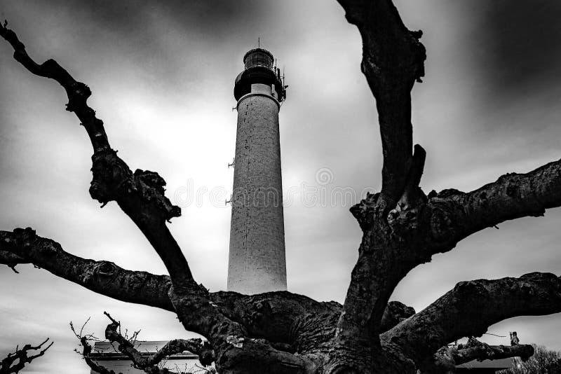 Leuchtturm - Biarritz - Frankreich lizenzfreie stockbilder